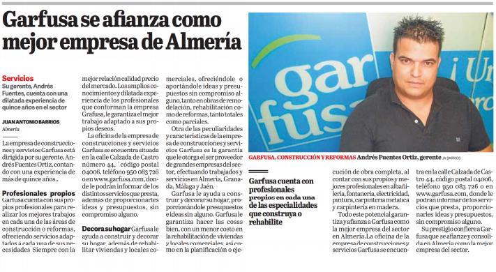 Garfusa se afianza como la mejor empresa de Almería