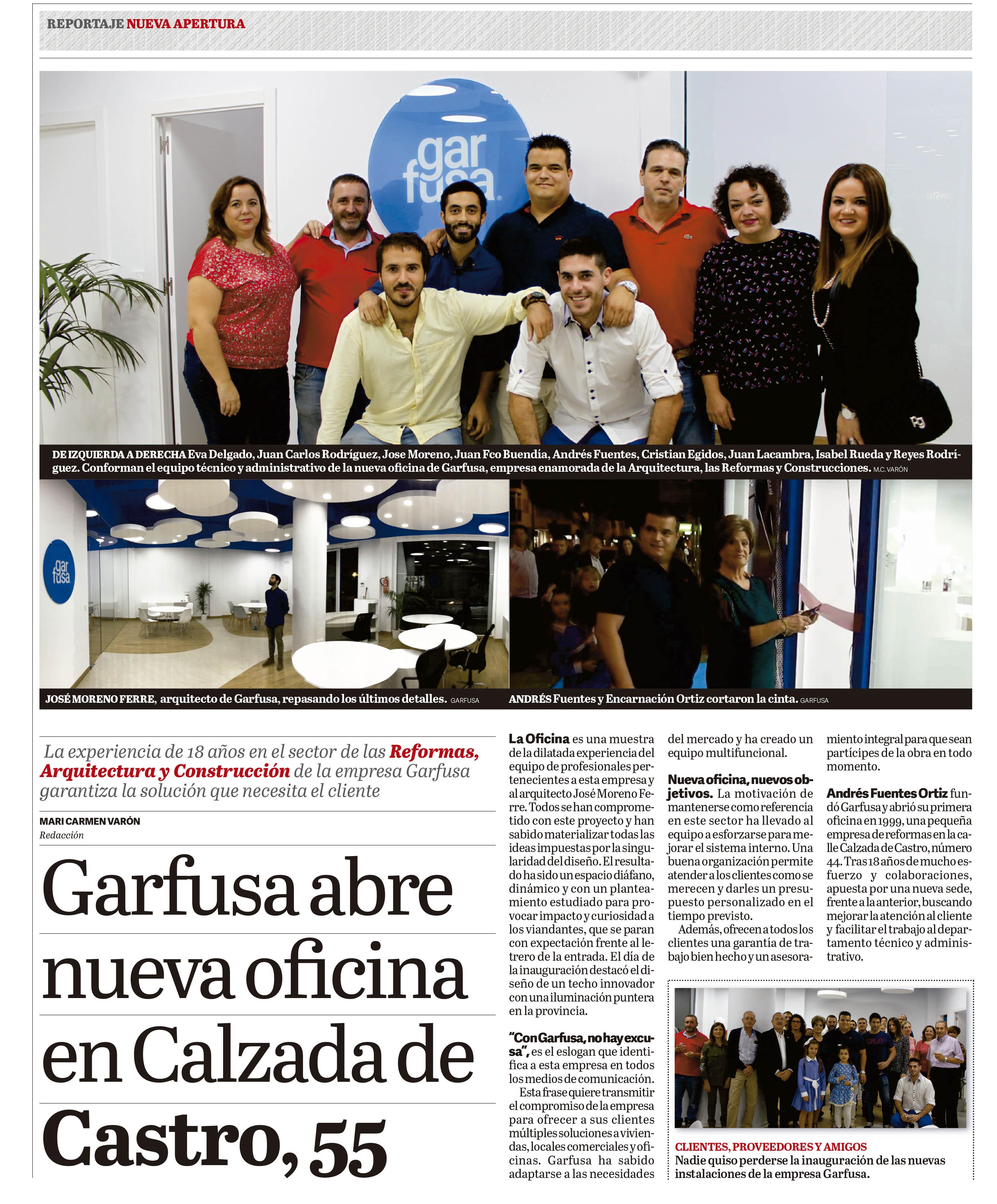 Nueva oficina Garfusa